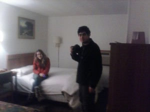 David and Hazel at Travelier Motel